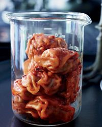 Pork Dumplings with Chile-Sesame Sauce // Ghoulish Halloween Wines: http://www.foodandwine.com/slideshows/halloween-wines #foodandwine