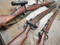 Mosin nagant, Mauser, Lee Enfield