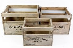 Vintage Chic Wooden Storage Crate, Vegetable Fruit Box, Country Kitchen