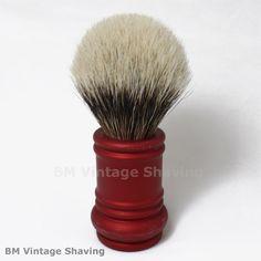Merkur Barber Pole Shaving Brush 24mm Red !  #MerkurShavingBrush Shaving Brush, Wet Shaving, Whisk Broom, Shaving Supplies, Barber, Brushes, Red, Poland, Straw Broom