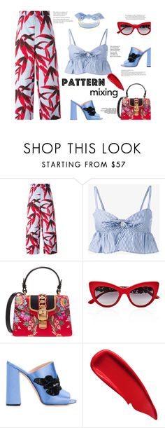 """Summer Pattern Mixing"" by stavrolga ❤ liked on Polyvore featuring Marni, Maryam Nassir Zadeh, Gucci, Dolce&Gabbana, Rochas, Monica Sordo and Sisley"
