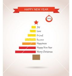 Christmas tree made like bar chart with greetings vector - by LipMic on VectorStock®