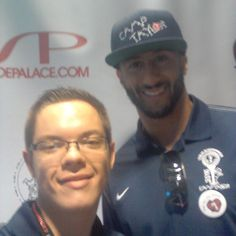 Me and @kaepernick7 at @camp_taylor #againstallodds tournement. I really appriciate the time he spends with us