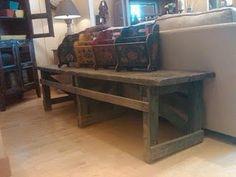 barn wood bench