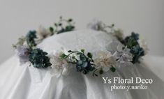 10月にディルズフォード青山店さんでウェディングパーティをなさった新婦さんよりお写真をいただきましたので、ご紹介いたします。シックな青系の花冠と、おそろい...