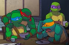 Get a room! by sneefee on deviantART>>>>>>What the heck is this. I think i might have involuntarily started shipping raph and Leo. REO.