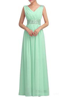 Amazon.com: Huafeiwude Women's V Neck Chiffon Floor Length Long Evening Dresses: Clothing