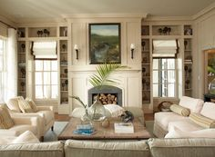 coastal color palette for rooms | coastal living idea house living room - beautifully coastal