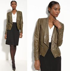 Leather Jacket for Business Casual - keep it refined, lightweight, dressy, sophisticated and crisp.