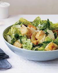 A Few Twists on Caesar Salads--Here, Caesar Salad with Crispy Tofu Croutons. Via F&W (www.foodandwine.com).