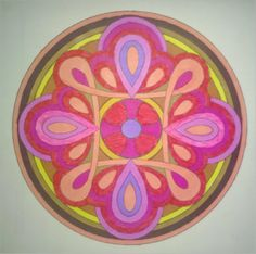 Coloring Mandalas by Susanne F. Fincher; coloring by me