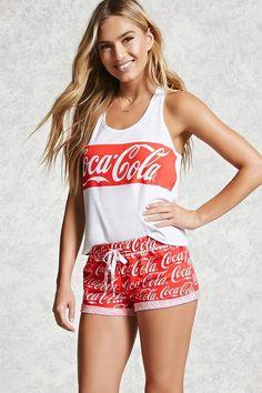 A stretch-knit pull-on bodysuit featuring a Coca-Cola logo on the ... b2f7657d4