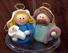 Lembrancinha de natal presépio de biscuit - Artesanato Brasil