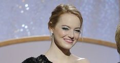 Achieve Emma Stone's Effortlessly Chic Golden Globes 'Do in 6 Easy Steps #purewow #celebrity #how-to #golden globes 2018 #entertainment #beauty #haircare #news #hair #golden globes