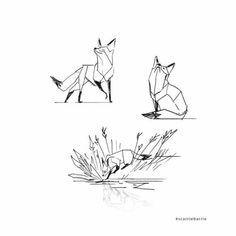 Graphic tattoo, choose his first stylized minimalist tattoo, . - Graphic tattoo, choose his first stylized minimalist tattoo, fox ta … - Zorro Tattoo, Animal Drawings, Art Drawings, Tribal Fox, Fox Tattoo Design, Fox Design, Fuchs Tattoo, Geometric Fox, Geometric Tattoos
