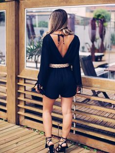 Meu look: Macaquinho Preto | Blog de Moda e Look do dia - Decor e Salto Alto