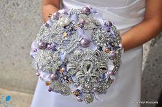 Lavendar Hydrangea Bouquet by Blue Petyl #weddingbouquet