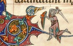 This thing with the unexplained motif of knights fighting snails (and often losing to them) in medieval manuscripts is just one of the best ...