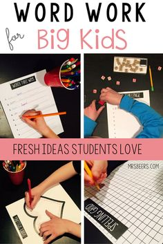 ELA Word Work for BIG KIDS Fresh ideas your students can't wait to utilize in your ELA classroom.
