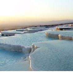 Pamukkale Travertine Pools, Turkey.