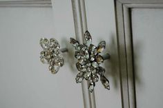 Re-purpose Vintage Broaches for cabinet knobs