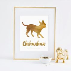 Printable Dapper Paws Collection - The Chihuahua Wall Art - INSTANT DOWNLOAD PRINTABLE