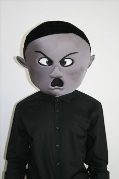 The angriest boy in the world head, by Oneandonlycostumes