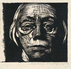 Weimar: Käthe Kollwitz, Self-Portrait, 1923