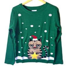 Grumpy Cat Tacky Ugly Christmas Sweater