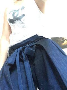 Upcycled denim Thai pants by Annika-N