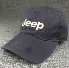 24b80fc37eb Gray JEEP Embroidered Baseball Cap Hat Vintage Baseball Hats