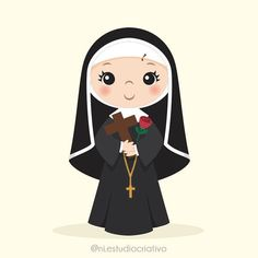 Ni {estúdio criativo} (@ni.estudiocriativo) • Fotos e vídeos do Instagram Catholic Art, Catholic Saints, Page Borders Design, Doodle Lettering, Santa Letter, Prayer Cards, Kawaii, Silhouette Projects, Cute Cartoon