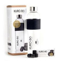 KURO-Bō's reusable and limited-edition 1 Litre Gō-Ecō Glass Water Bottle is hand-made from durable, high-quality borosilicate glass (pyrex) which is much stronger and lighter than your standard glass. It comes with a polished stainless steel lid, food-grade silicon seal and a non-slip silicon grip.