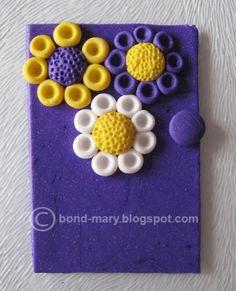 """Бумажный мир Mary: Кулон """"Фиолетовый рай"""" (МК)"""