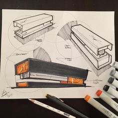 Working through tightening down proportions from back in my Swingline days. Developing the fashion aka runway stapler. #tbt #office #swingline #desk #haveyouseenmystapler #idigprocess #sketching #idsketching #process #industrialdesign #industrialdesigner #productdesign #sketchaday #copicmarkers @copicmarker #markers #markersketch #instafun #instagood #design #designer #designerlife #loveconcepts #pilotrazorpoint #markersketch #markerrendering #l4l #followback #tagforlikes #design…