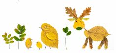 Té leuk: dieren maken met herfstbladeren