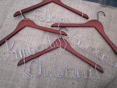 Awesome DIY Name Hangers ~ make great personalized gifts!