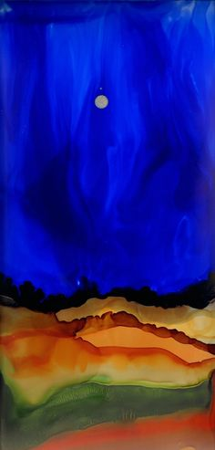 "Saatchi Art Artist: Katherine Smith-Schad; Ink 2013 Painting ""Southwestern Sky (Not avaiable)"""