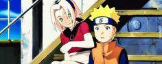 Awe, a gentle nudge my Sakura. Naruto Gif, Naruto Shippuden, Narusaku, Sakura Haruno, Gifs, Fictional Characters, Beauty, Fantasy Characters, Presents