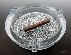 Blenko Oriental Crystal Art Glass Ashtray