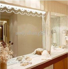 Large Wall Floral Blossom Nursery Mirror Ornament Butterfly Decal 1141