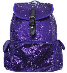 BLING Purple Sequin Backpack FREE Personalization. Various colors available. etsy.com/shop/threelittlechickadee