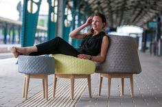 BOUNCE: Foam Sculpture Seats by Véronique Baer - Design Milk