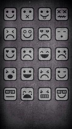 Caras: smile, sad, cry.