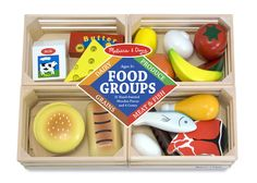 Houten speelgoed voedselkratten - Speelgoed van hout, kinder verkleedkleding, speelgoed poppen en pluche knuffels