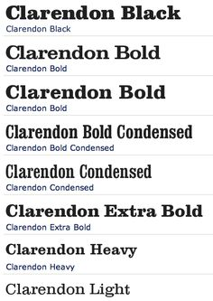 Clarendon Font Family // Free Font Download