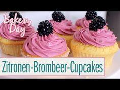 Zitronen-Brombeer-Cupcakes | BakeMyDay - YouTube