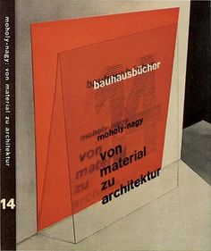 Covers to all fourteen of the original books in the Bauhausbücher series, 1925-1930.