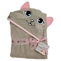 Extra Large 40x30 Hooded Towel for Babies Infants Toddlers Kids Grey Cat *** Check this awesome product by going to the link at the image.-It is an affiliate link to Amazon.