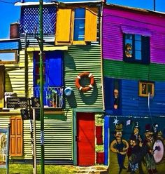 House of Color in La Boca, Buenos Aires, Argentina Colors Of The World, Colourful Buildings, Colorful Houses, Over The Rainbow, Rainbow River, Color Of Life, Architecture, Rainbow Colors, Bright Colors